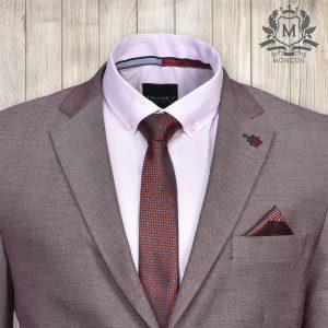 Falcon's bíborvörös, kék pöttyös nyakkendő