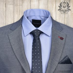 Falcon's éjkék, pöttyös nyakkendő