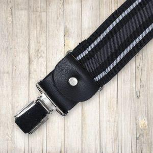 Fekete fehér csíkos nadrágtartó
